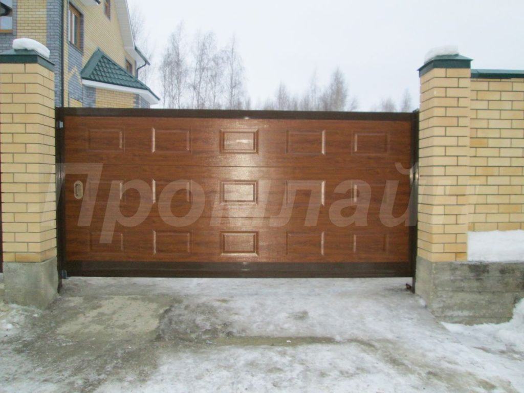 откатные ворота Промлайн