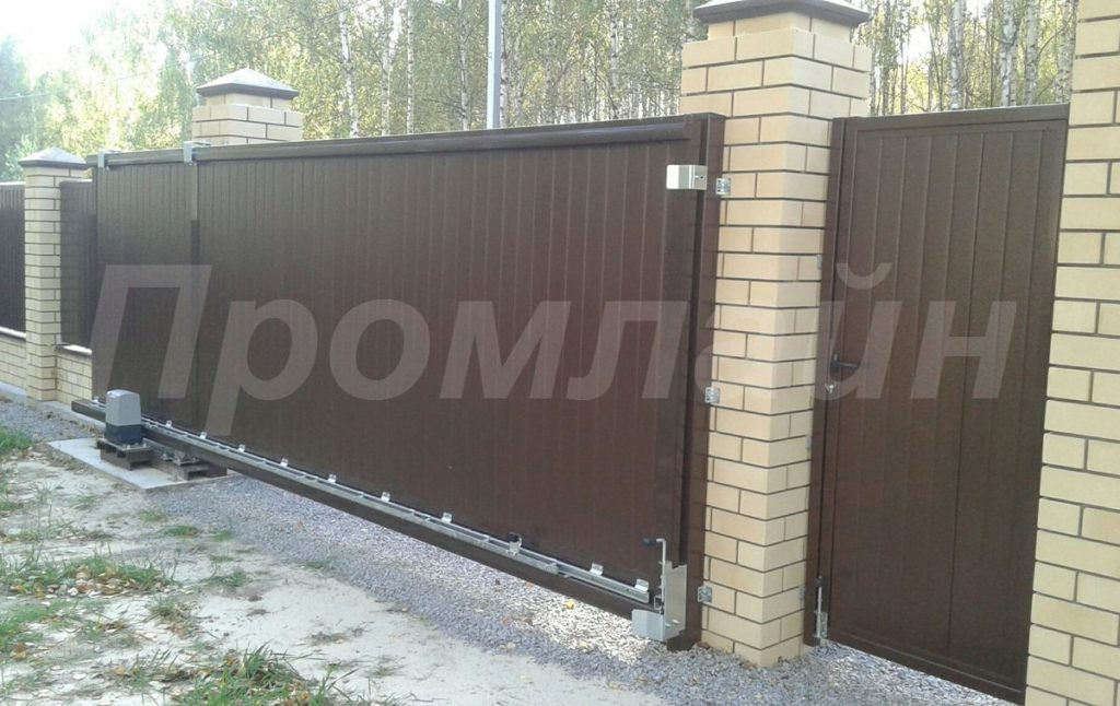 Автоматические откатные ворота Нижний Новгород Промлайн
