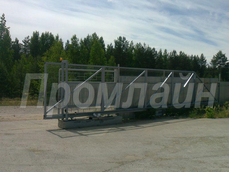 Ворота откатные из сварной сетки 3D
