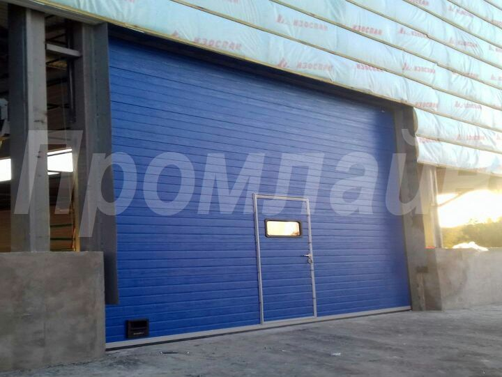 Промышленные подъемные ворота doorhan с калиткой