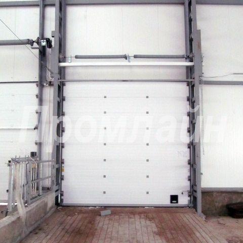 промышленные секционные ворота дорхан с вертикальным подъемом