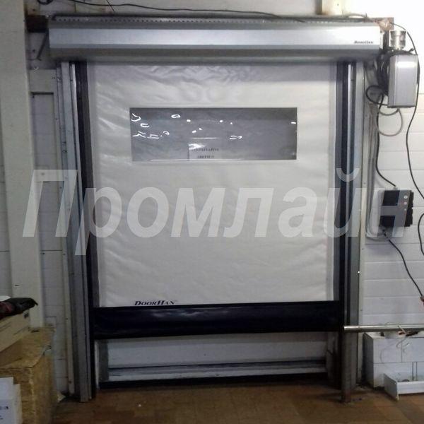 скоростные пвх ворота doorhan с окном