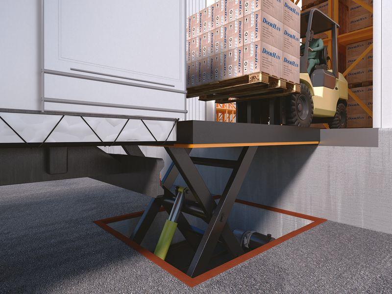 Гидравлический подъемный стол doorhan