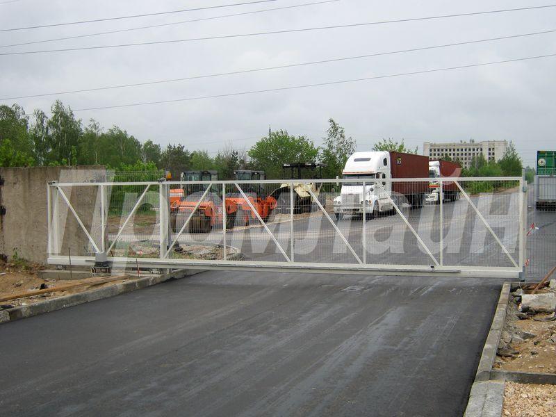 ворота откатные сдвижные из сварной металлической сетки 3D