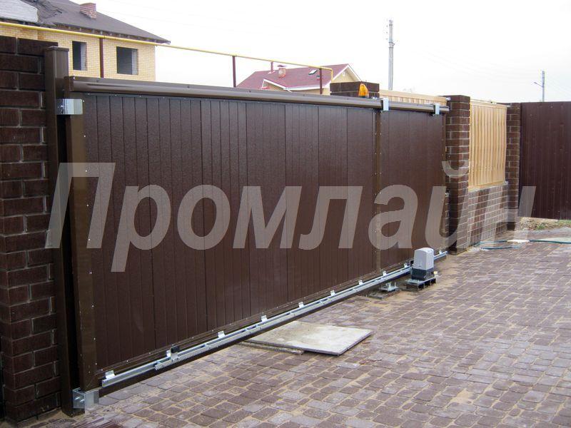 Ворота откатные из сэндвич панелей Doorhan с электроприводом