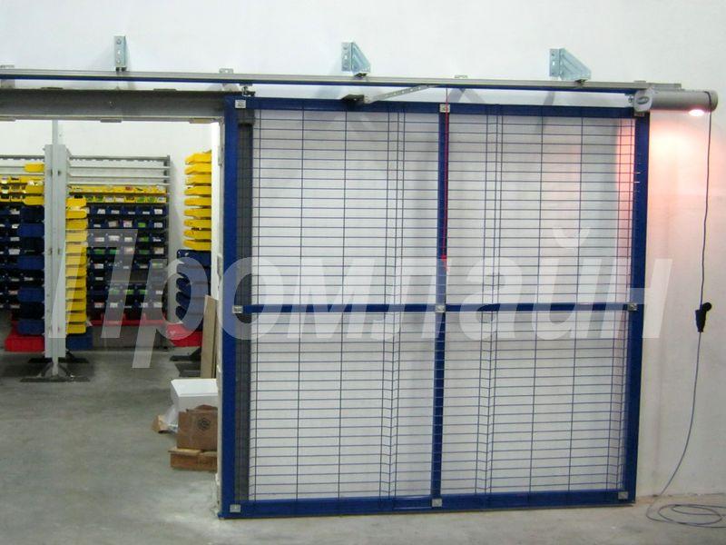 Сдвижные подвесные автоматические ворота из 3D сетки